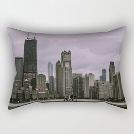 Purple Chicago Evening Rectangular Pillow