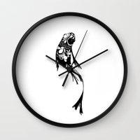 koi fish Wall Clocks featuring Koi Fish by I Ate My Pencil