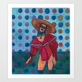 Sally at the Sea Shore Art Print