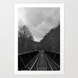 Laurel River railroad :: North Carolina Art Print