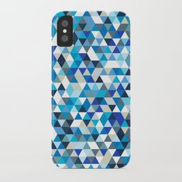 Icy triangles iPhone Case