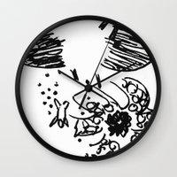 kraken Wall Clocks featuring Kraken by Probably Plaid