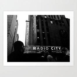 NEW YORK//RADIO CITY MUSIC HALL Art Print