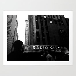 NEW YORK//RADIO CITY MUSIC HALL Art Print