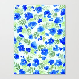 Floret (Blue) Canvas Print