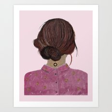 The pink blouse Art Print