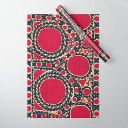 Tashkent Uzbekistan Central Asian Suzani Embroidery Print Wrapping Paper