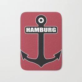 Hanseatic city of Hamburg anchor northern light gift Bath Mat