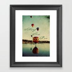Letting Love Rise Framed Art Print