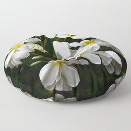 Tropical Island Fine Art Plumeria Flowers Floor Pillow