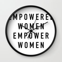 Empowered Women Wall Clock