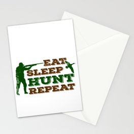 Eat Sleep Hunt Repeat Funny Gift For Hunters Stationery Cards