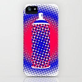 Spray Can Dots Patriotic iPhone Case