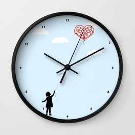 Heart Shaped Balloon Wall Clock