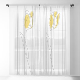 Spring Tulips Sheer Curtain