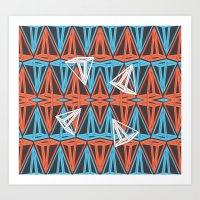 Triangles Freedom Art Print