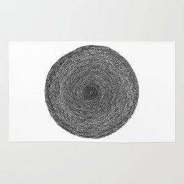 Circle / Semi Circle : Darker Colors Rug