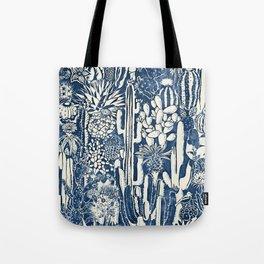 Indigo cacti Tote Bag