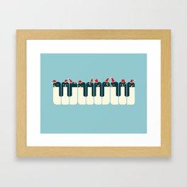 The Penguin Choir Framed Art Print