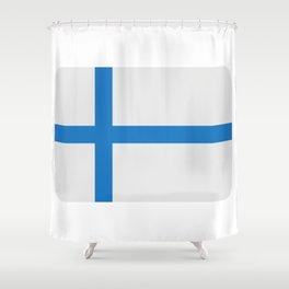 Finland flag Shower Curtain