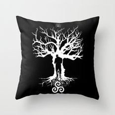 Spectrum (White Ink Vers.) Throw Pillow