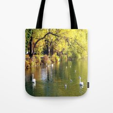 Autumn Mood at Lake Tote Bag