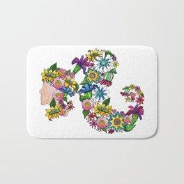 Blooming Ponytail Bath Mat