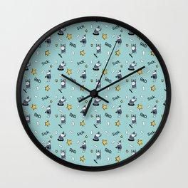 sick wizards blue Wall Clock