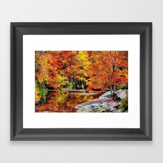 Autumn Reflection Framed Art Print