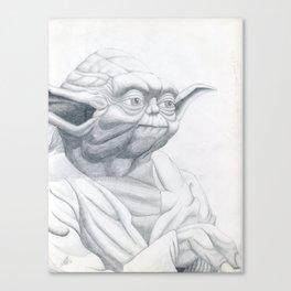 YODA STAR WARS JARDEZ Canvas Print