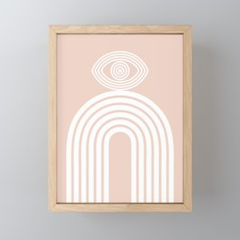Abstraction_EYE_LINES_Minimalism_001 Framed Mini Art Print