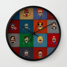 Screaming Heroes Wall Clock