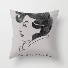 Good Looking Gal Throw Pillow