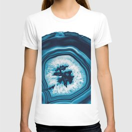 Blue White Agate #2 #gem #decor #art #society6 T-shirt
