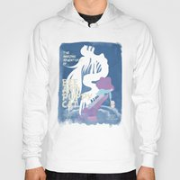 puppycat Hoodies featuring bee and puppycat retro movie poster by Eva Puyal