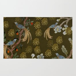 Golden Chinese Forest - Chinese Art Rug