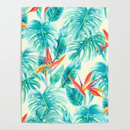 Tropical Paradise Pale Yellow Poster
