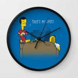 That's My Spot Wall Clock