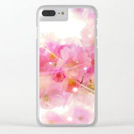 Japanese cherry tree magical blossoms Clear iPhone Case