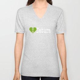 I Heart Datura   Love Datura Unisex V-Neck