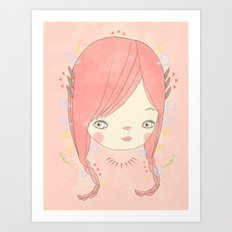소녀 THIS GIRL Art Print