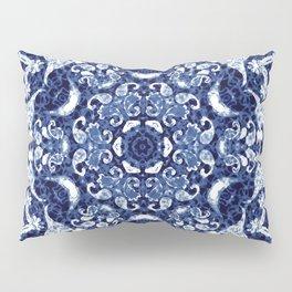 Boho Blue Medallion Pillow Sham