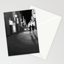 Girls A_night town Stationery Cards