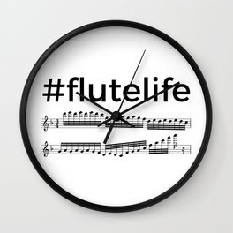 #flutelife Wall Clock