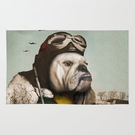 "Wing Commander, Benton ""Bulldog"" Bailey of the RAF Rug"