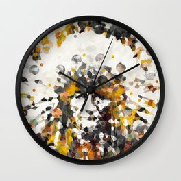 Modern Yellow Native American Indian Chief Wall Clock