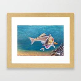 Fish On! Framed Art Print