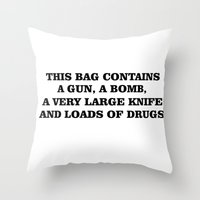bag Throw Pillows featuring Bag by Noelle Abbott