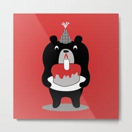 Cake Bear Metal Print