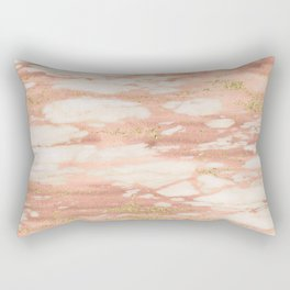 Sorano rose gold marble Rectangular Pillow